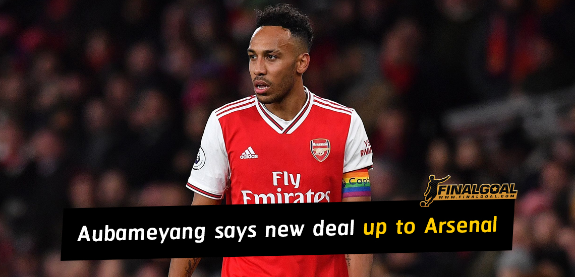 Aubameyang calls on Arsenal to convince to sign new deal
