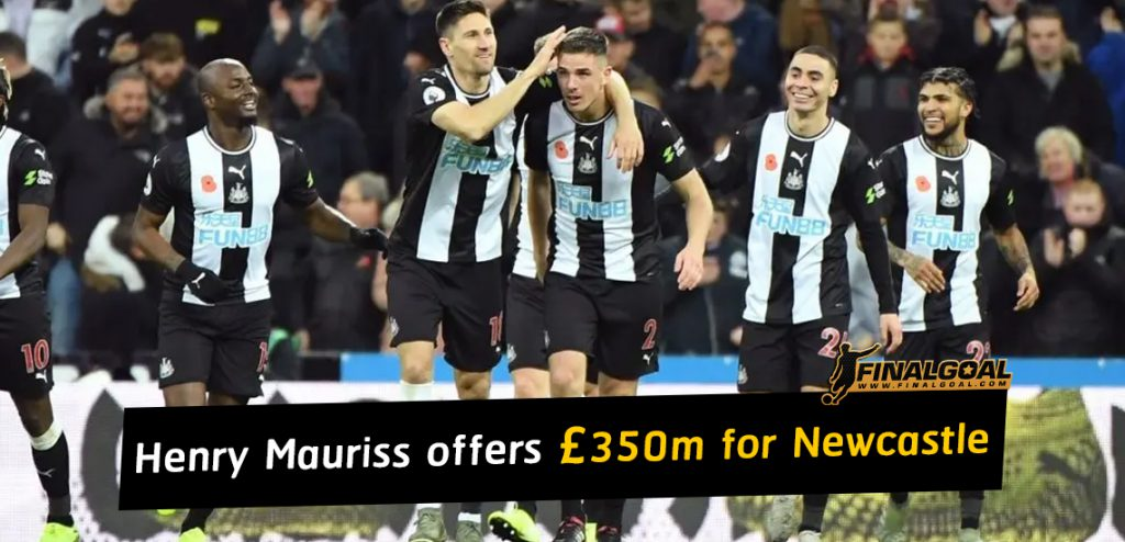 Henry Mauriss puts in £350m bid to buy Newcastle