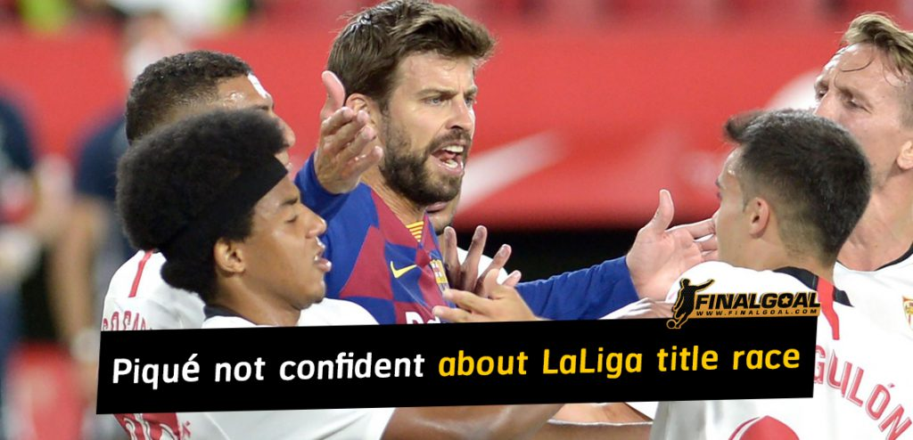 Barcelona's Piqué not confident about beating Madrid to title
