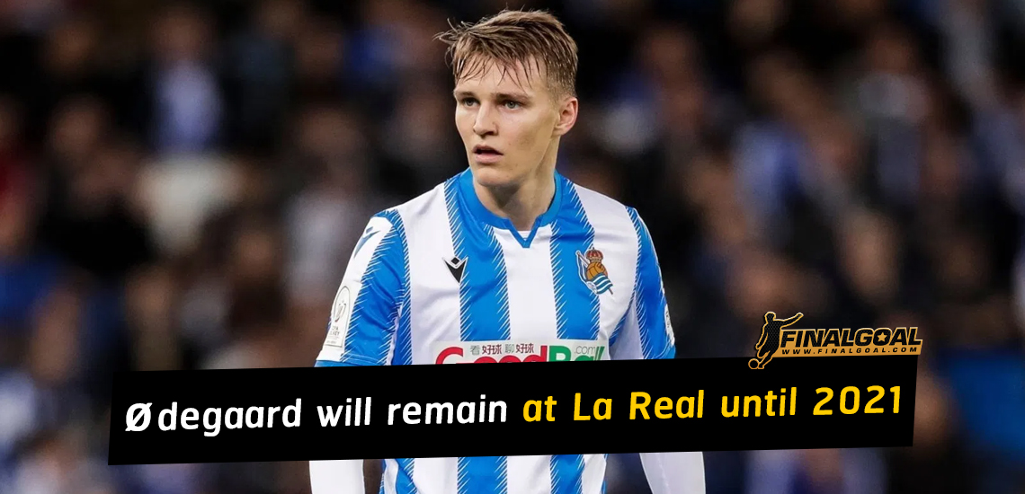 Martin Ødegaard will remain at Real Sociedad for another season