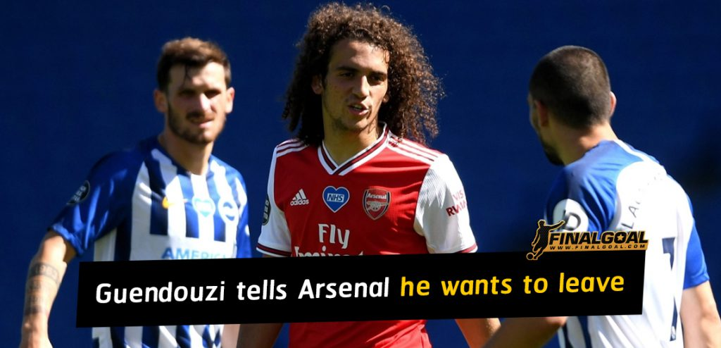 Matteo Guendouzi tells Arsenal he wants to leave after Mikel Arteta bust up