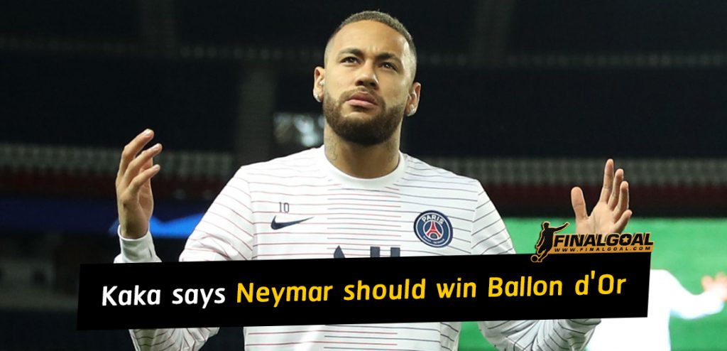 Neymar should win Ballon d'Or if PSG win Champions League
