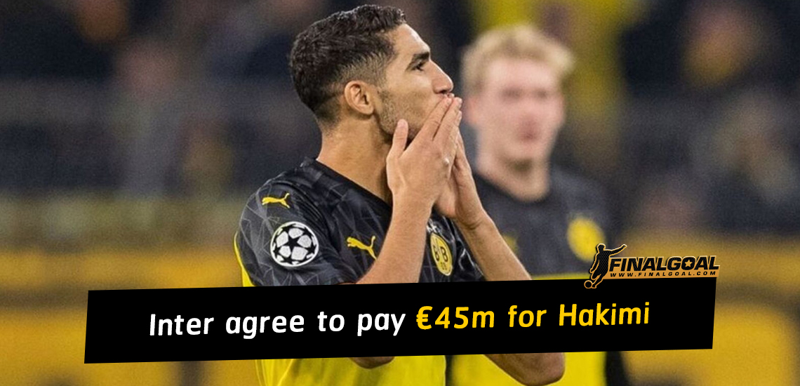 Inter agree to pay €45m for Achraf Hakimi from Real Madrid