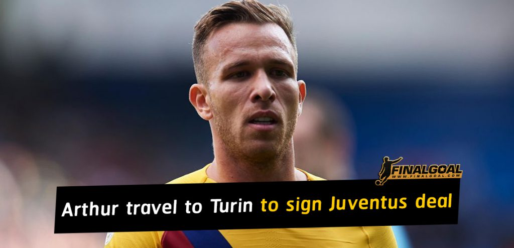 Arthur and his entourage travel to Turin to sign Juventus deal