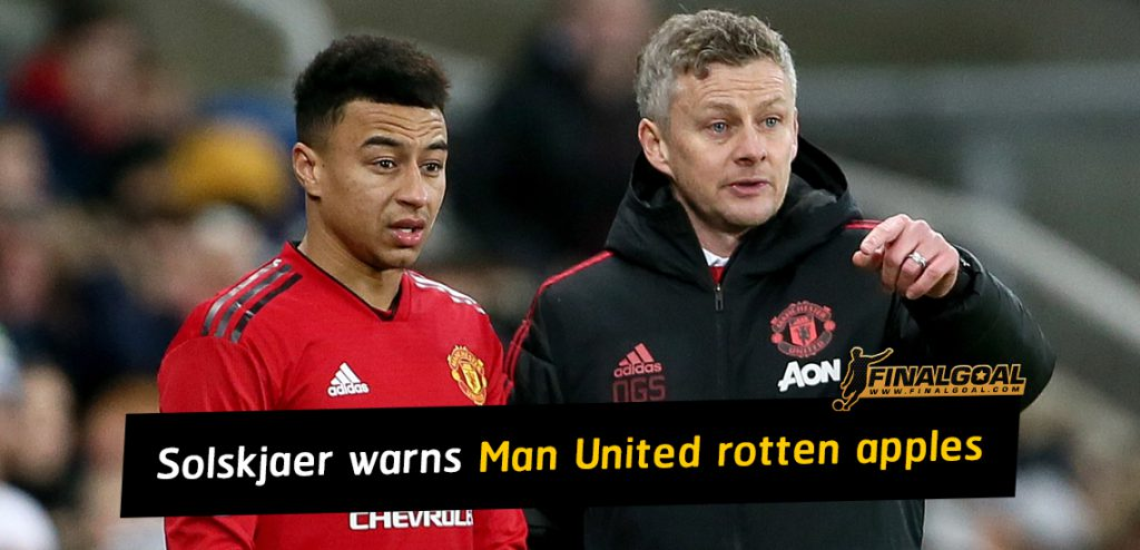 Solskjaer sends warning to Manchester United rotten apples