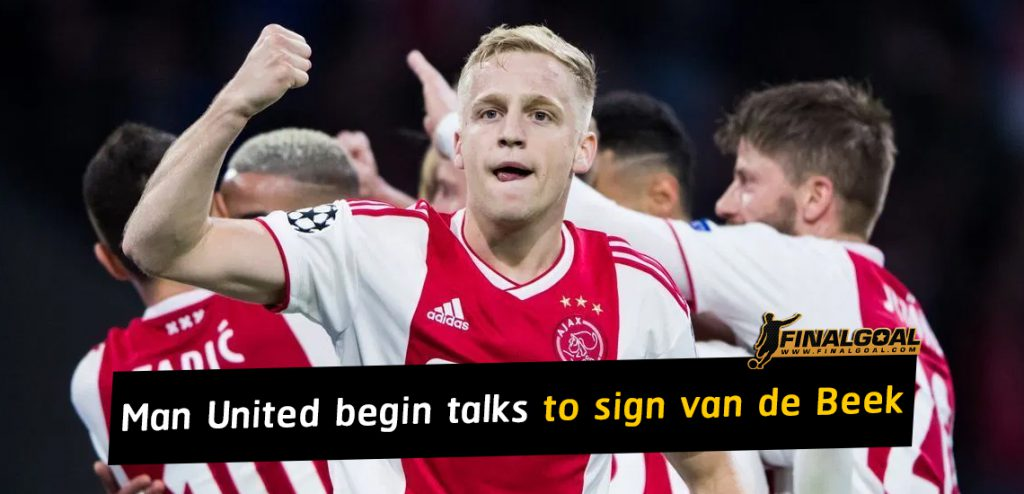 Manchester United begin talks to sign van de Beek