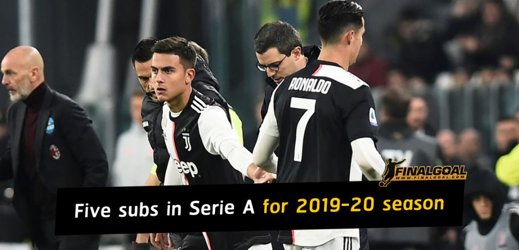 Five subs in Serie A