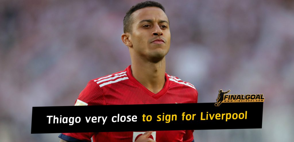 Thiago Alcantara very close to sign for Liverpool this summer