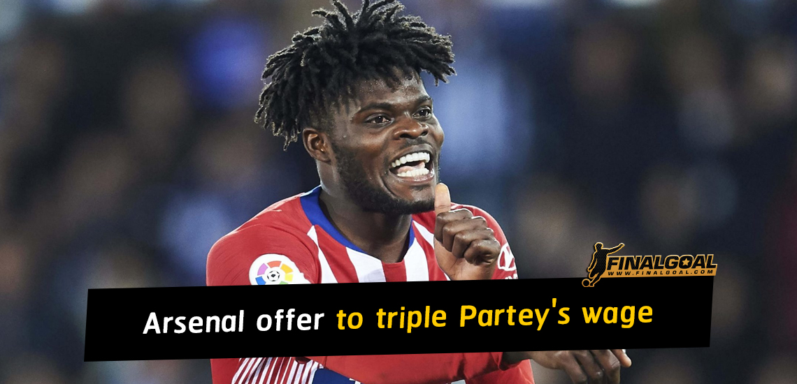 Arsenal offer to triple Thomas Partey's Atletico Madrid wage