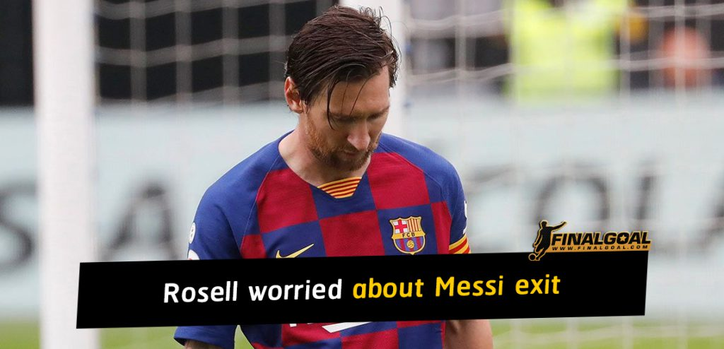 Former Barcelona president Sandro Rosell worried about Lionel Messi exit