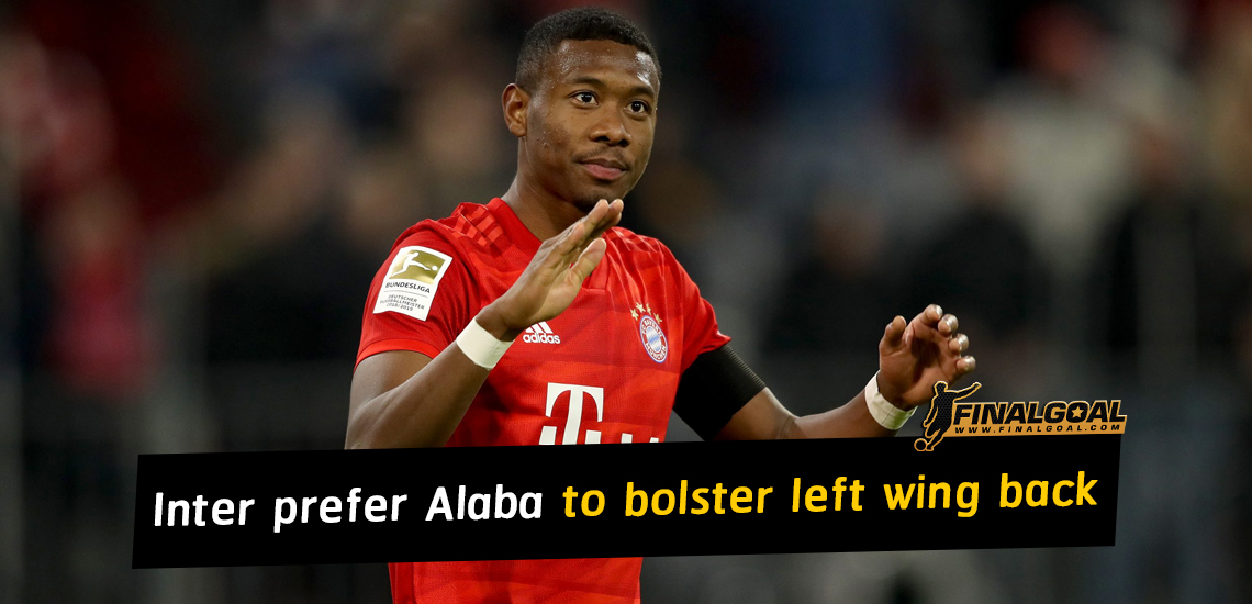 Inter prefer David Alaba to Emerson Palmieri to bolster left wing back