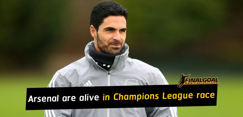 Mikel Arteta says Arsenal are alive in Champions League race
