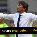 Antonio Conte furious with Inter after a 2-1 defeat to Bologna