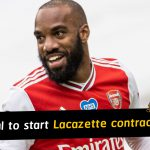 Mikel Arteta reveals Arsenal to start contract talks with Alexandre Lacazette