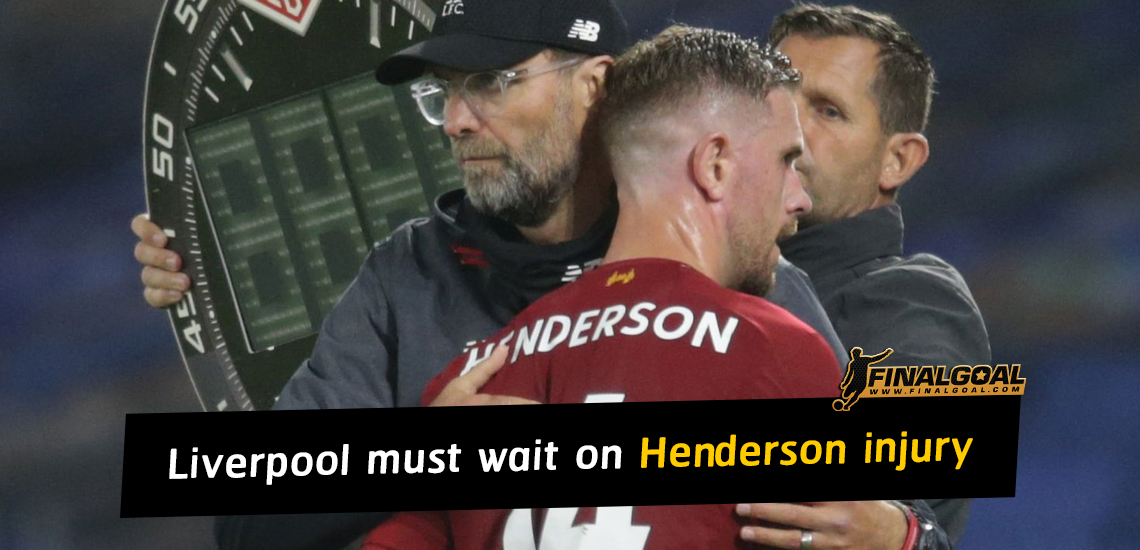 Jurgen Klopp says Liverpool must wait on Jordan Henderson knee injury