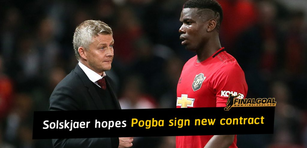 Ole Gunnar Solskjaer hopes Paul Pogba will sign new contract