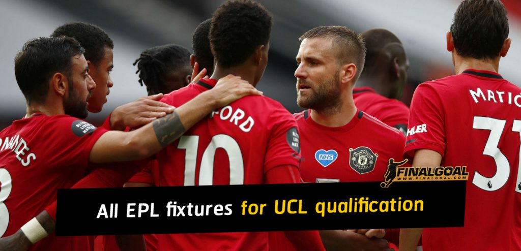 Premier League fixtures for Champions League qualification