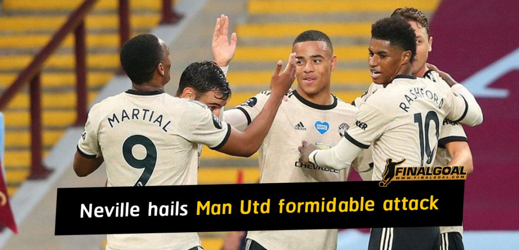 Gary Neville hails Man United have the makings of formidable attack