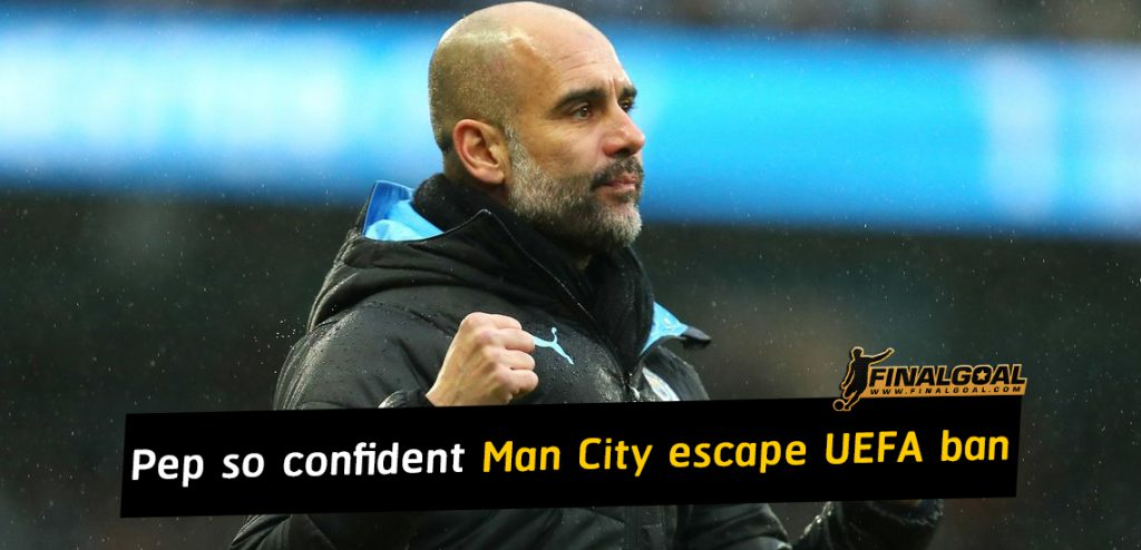 Pep Guardiola so confident Manchester City will be in Champions League