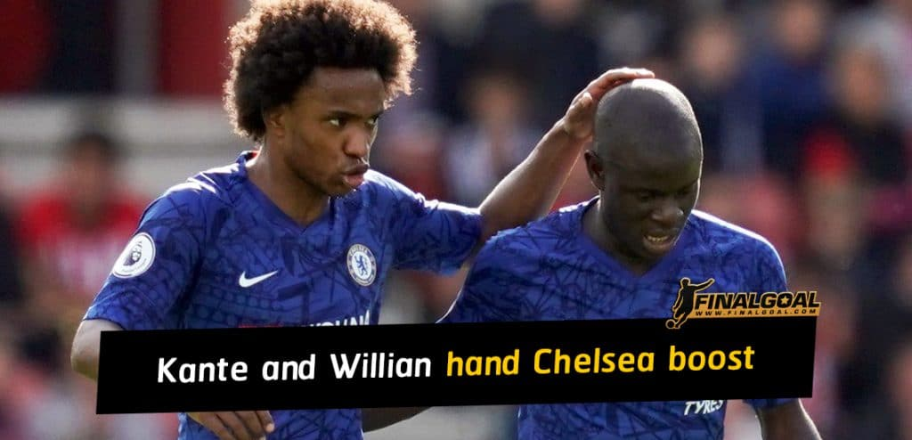 N'Golo Kante and Willian hand Chelsea fitness boost ahead of FA Cup final