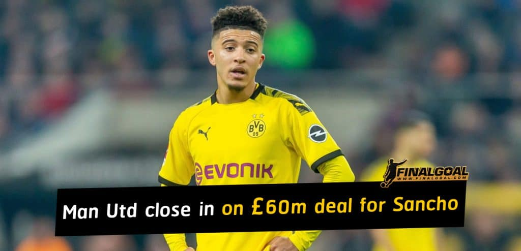 Manchester United close in on deal for Jadon Sancho after agree £60m fee