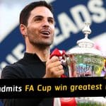 Mikel Arteta admits FA Cup win the greatest moment of career