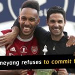Aubameyang refuses to commit future to Arsenal despite FA Cup win