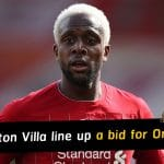 Aston Villa line up a bid for Liverpool striker Divock Origi