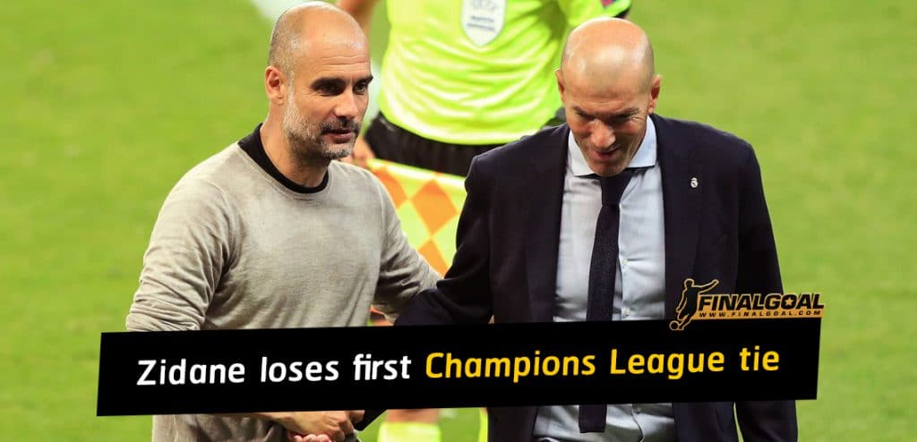 Zinedine Zidane loses first ever Champions League knockout tie as coach