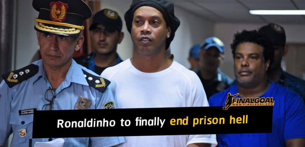 Ronaldinho to finally end five-month Paraguay prison hell