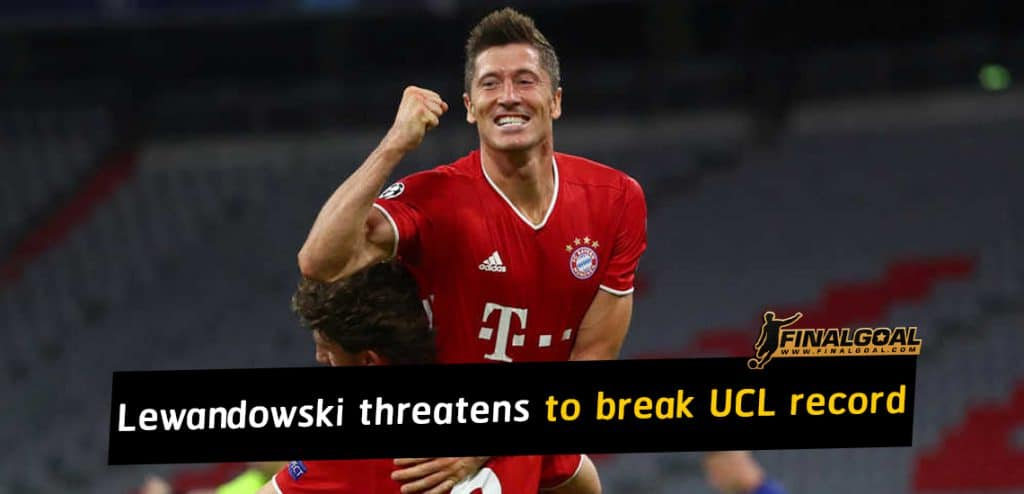Robert Lewandowski threatens to break Champions League record