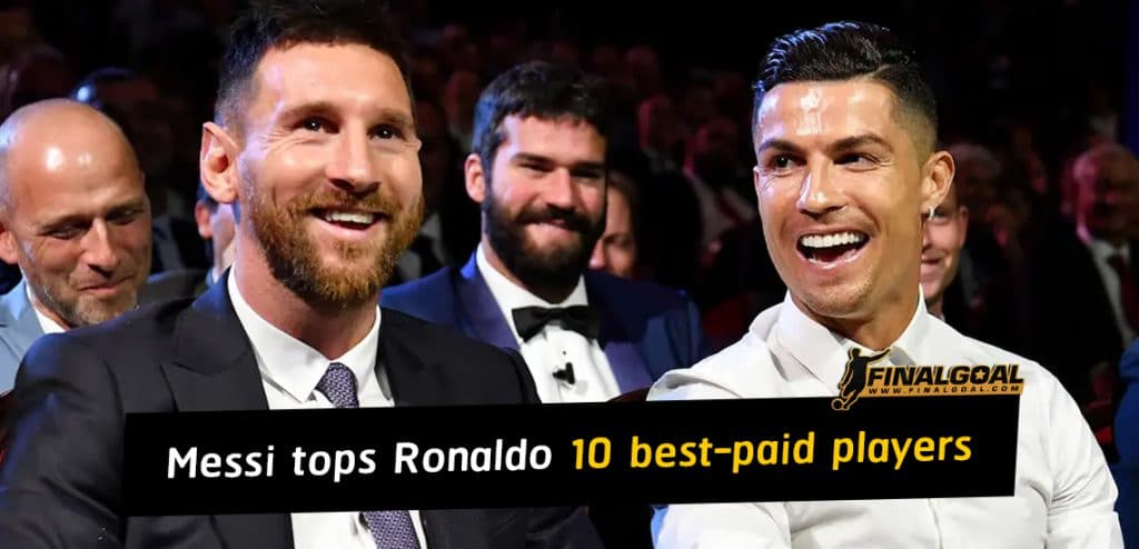 Lionel Messi tops Cristiano Ronaldo in list of 10 best-paid football players