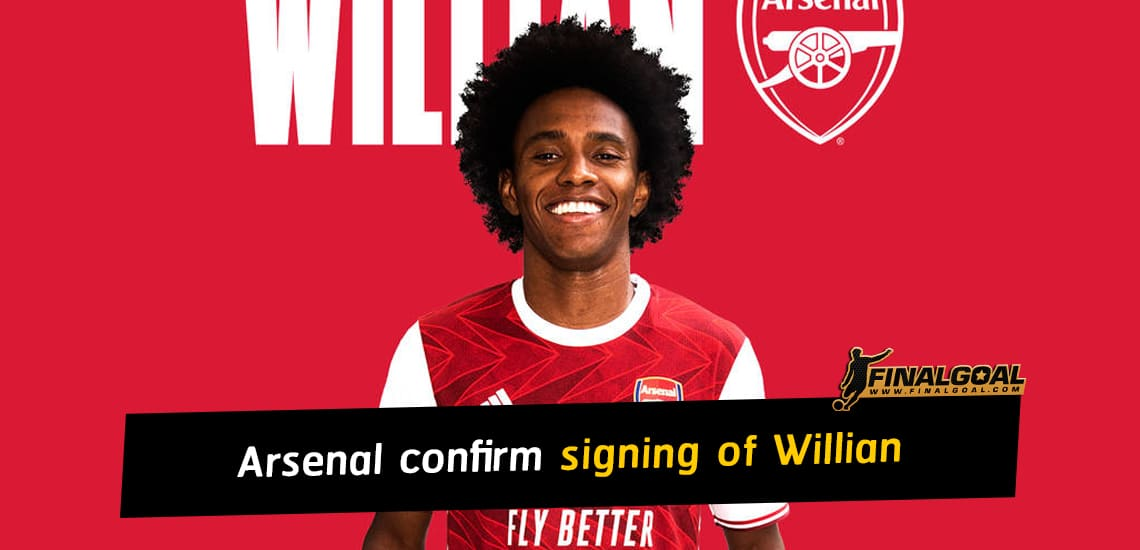 Arsenal confirm signing of Willian