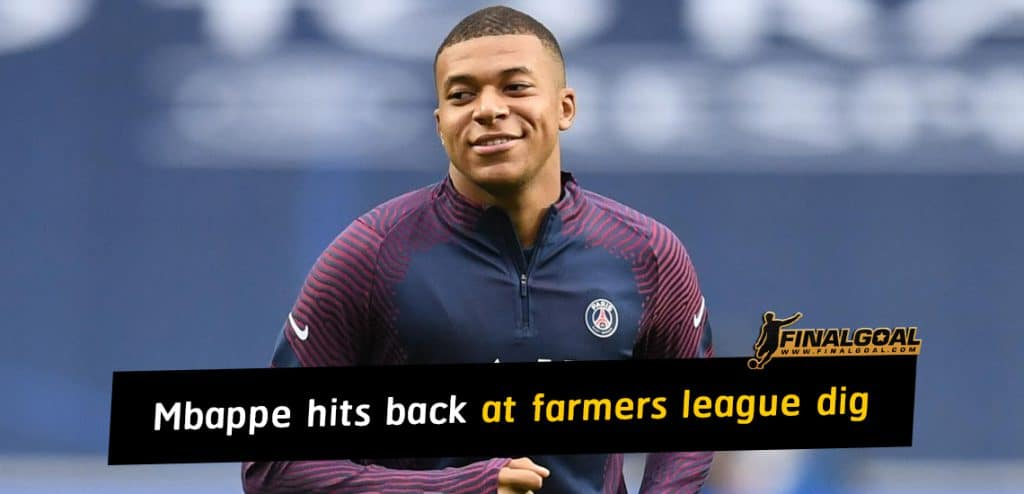 Kylian Mbappe hits back at farmers league dig after Lyon beat Man City