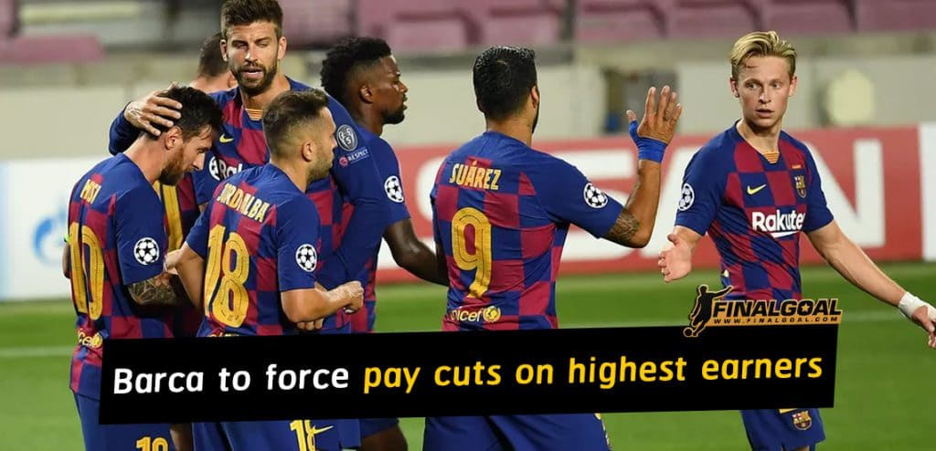 Barcelona plan to force pay cuts on heavyweight players refuse to leave