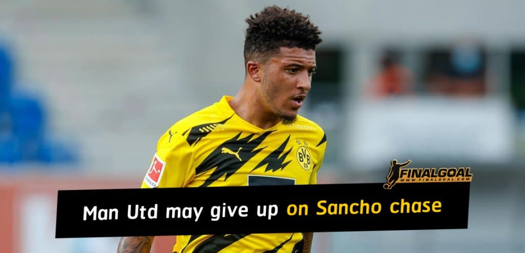 Manchester United give up on Jadon Sancho chase until next summer