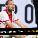 Daley Blind says feeling fine after collapsing during a friendly