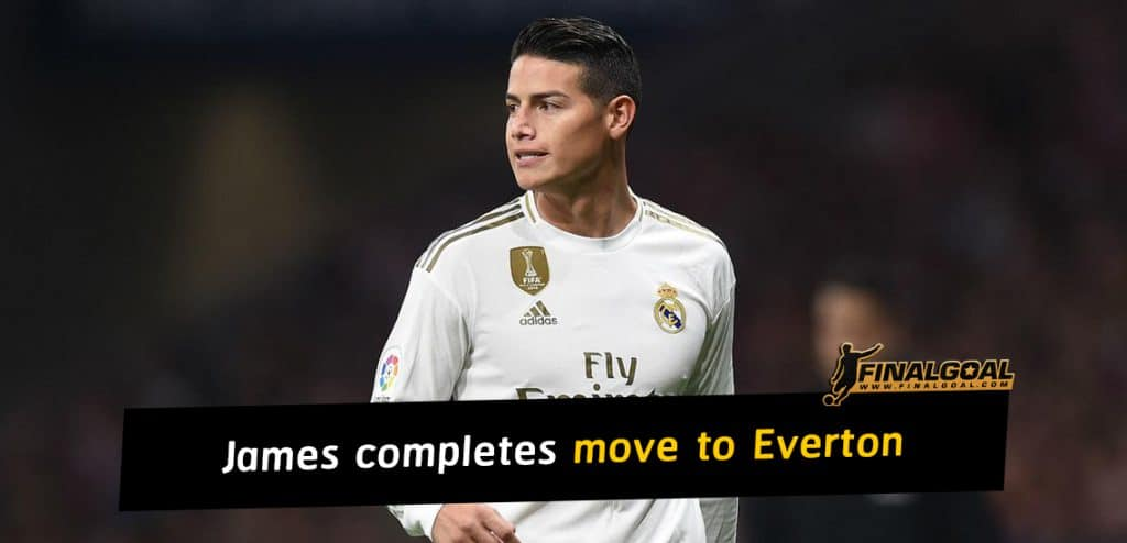 James Rodríguez completes move to Everton on three-year deal