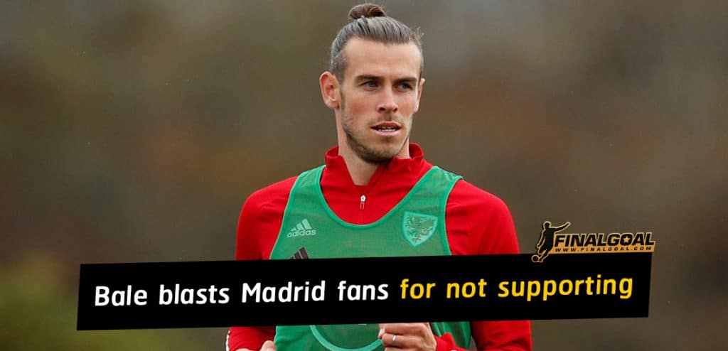Gareth Bale criticises Real Madrid fans for not supporting players
