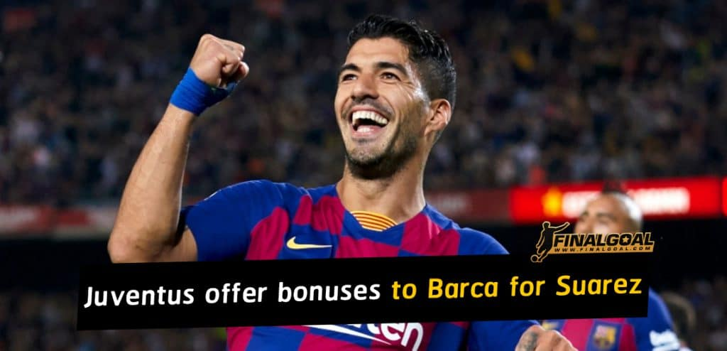 Juventus to offer Barcelona some performance bonuses for Luis Suarez