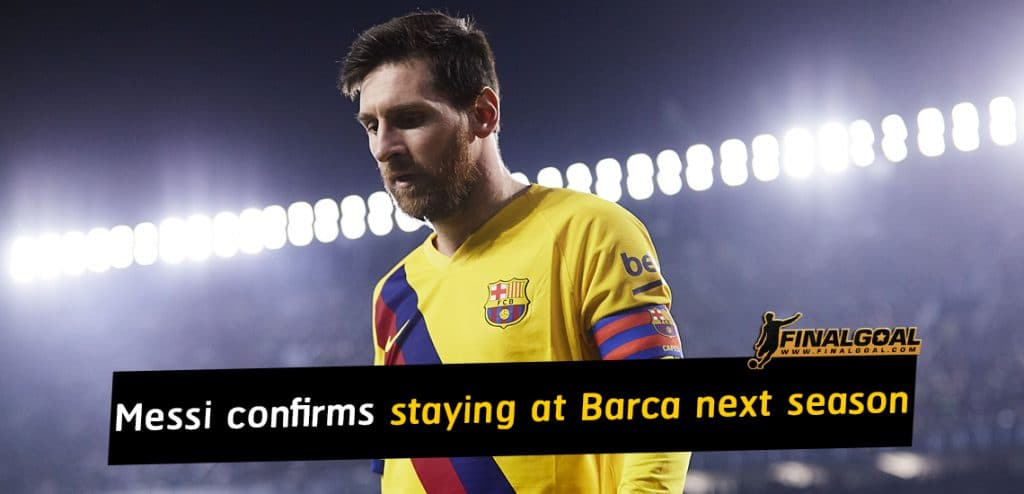 Lionel Messi confirms Barcelona stay and blasts Josep Maria Bartomeu