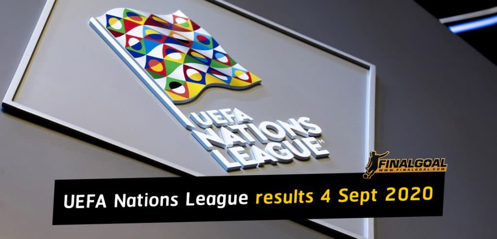 UEFA Nations League results for 4 September 2020