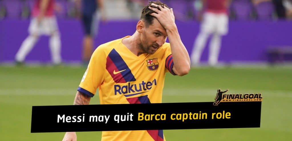 Lionel Messi may quit Barcelona captain role after transfer saga