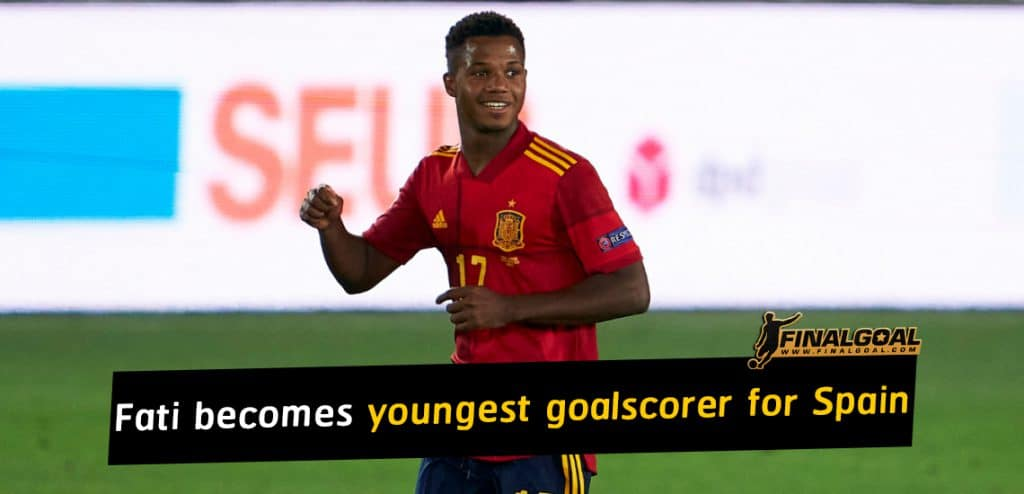 Ansu Fati makes history as youngest goalscorer for Spain