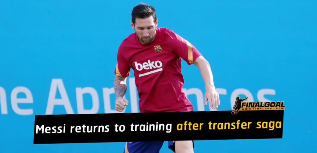 Lionel Messi finally returns to training after transfer saga