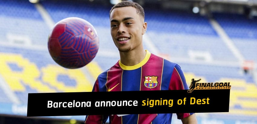 Barcelona announce signing of Sergiño Dest from Ajax
