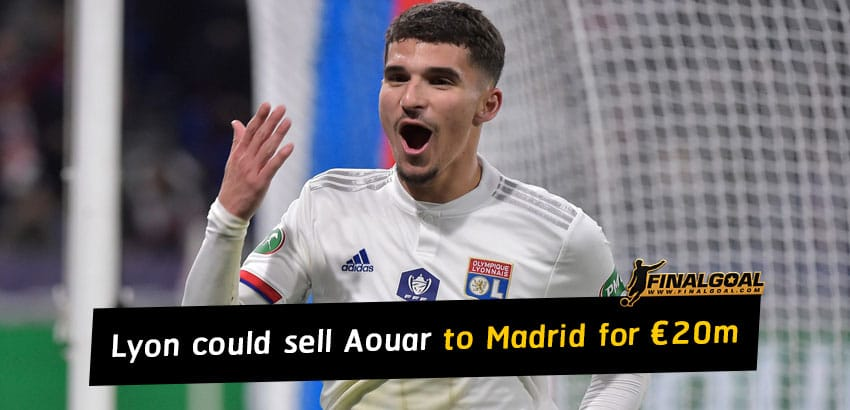 Lyon could sell Houssem Aouar to Real Madrid for just €20m