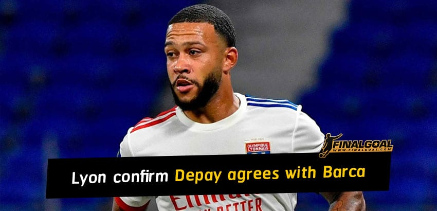 Lyon confirm Memphis Depay has agreement with Barcelona