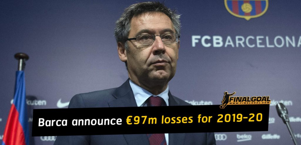 Barcelona announce €97m losses as total debts rise to €820m