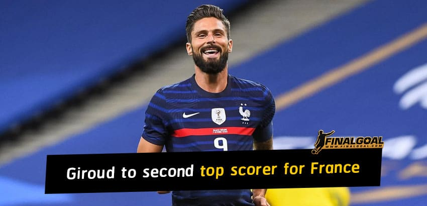 Olivier Giroud becomes second all time top scorer for France